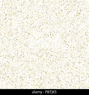 border made of golden foil hearts vector glitter background cute small falling golden dots sparkle background glitter sparkle confetti