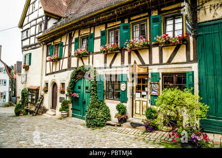 Old beer keller in the historic district of Nurtingen, Southern Germany - Stock Photo