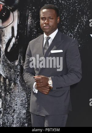 dayo Okeniyi arriving at the Terminator Genisys Premiere at the Dolby Theatre in Los Angeles. June 28, 2015.dayo Okeniyi ------------- Red Carpet Event, Vertical, USA, Film Industry, Celebrities,  Photography, Bestof, Arts Culture and Entertainment, Topix Celebrities fashion /  Vertical, Best of, Event in Hollywood Life - California,  Red Carpet and backstage, USA, Film Industry, Celebrities,  movie celebrities, TV celebrities, Music celebrities, Photography, Bestof, Arts Culture and Entertainment,  Topix, Three Quarters, vertical, one person,, from the year , 2015, inquiry tsuni@Gamma-USA.com - Stock Photo