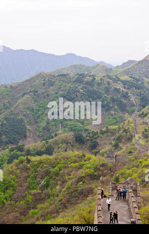 Great Wall of China,Mutianyu Section,Less Visited,Near Beijing,PRC,People's republic of China,China - Stock Photo