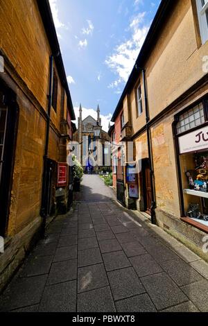 Street scene in Sherborne; a market town in Dorset England UK - Stock Photo