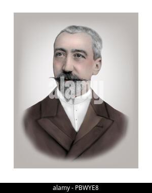 Anatole France  1844 - 1924  French Novelist Poet Critic - Stock Photo