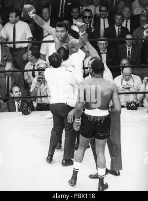 mohammed ali vs  joe malcott,1965 - Stock Photo