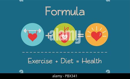 Formula for Healthy Heart - Stock Photo