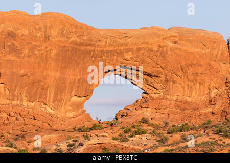 Arches at Arches National Park in Moab Utah - Stock Photo