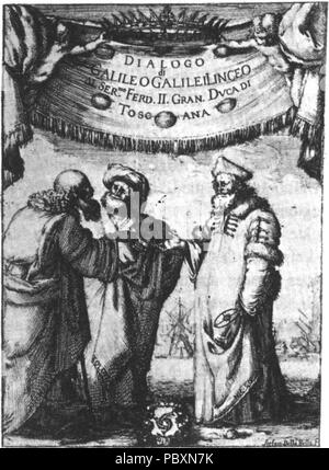 230 Frontpage of Dialogo di Galileo Galilei Linceo - Stock Photo