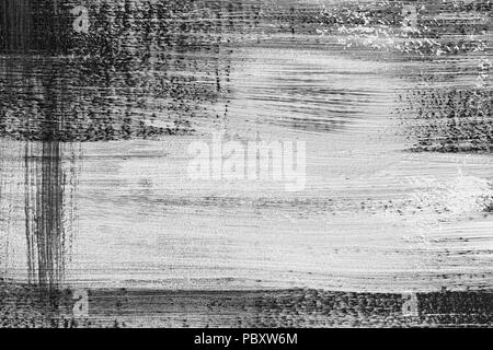 Black and White Paint Textured Abstract High resolution texture for background - Stock Photo