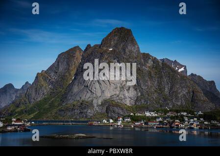 Fishing village of Reine, Lofoten Islands, Norway. - Stock Photo