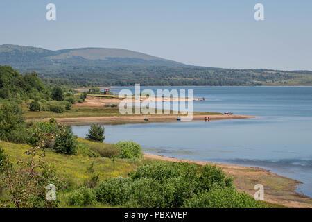 Vlasina lake in the summer - Stock Photo