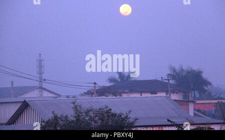 fFull moon in the morning - Stock Photo