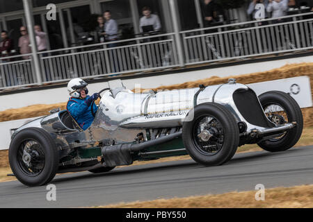 1933 Napier-Railton Special, the Brooklands lap record holder, with driver Allan Winn at the 2018 Goodwood Festival of Speed, Sussex, UK. - Stock Photo