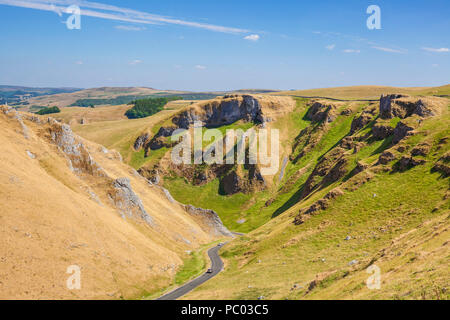 winnats pass derbyshire peak district national park derbyshire england uk gb europe - Stock Photo