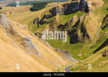 winnats pass castleton derbyshire peak district national park derbyshire england uk gb europe - Stock Photo