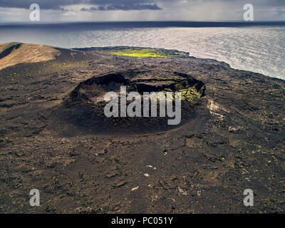 Island Off The South Coast Of Iceland Eruption
