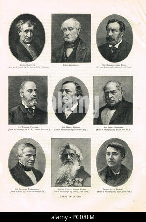 Great inventors of the  19th Century - Stock Photo