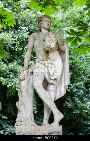 Statue of Mercury or Hermes at Nordkirchen Moated Palace, Germany - Stock Photo