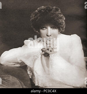 Sarah Bernhardt, 1844 – 1923.  French stage actress.  From These Tremendous Years, published 1938. - Stock Photo