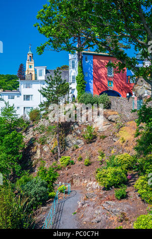 Portmeirion, Gwynedd, Wales, United Kingdom, Europe - Stock Photo