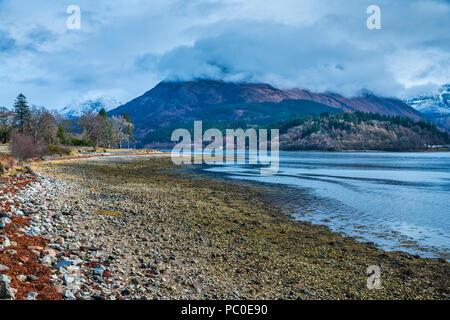 Loch Leven, North Ballachulish, Lochaber, Highland, Scotland, United Kingdom, Europe - Stock Photo