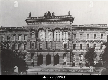 344 Koenigl Konservatorium Leipzig um 1910 - Stock Photo
