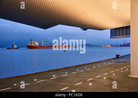 Botin Center Museum Art and Culture. Botin Foundation, architect Renzo Piano. Santander, Cantabrian Sea, Cantabria, Spain, Europe - Stock Photo