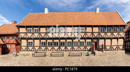 Mayor's House built in 1597, The Old Town in Aarhus, Denmark - Stock Photo
