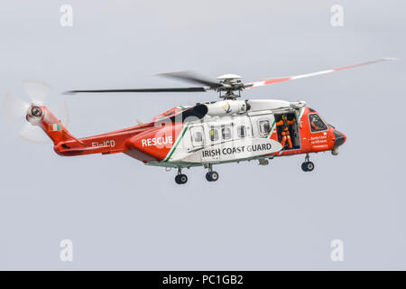 Irish CoastGuard Sikorsky Rescue 115, S-92A EI-ICD 4CA98F, stationed at Shannon, County Clare - Stock Photo