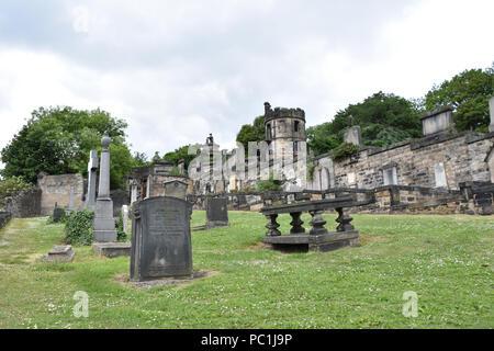 New Calton Burial Ground, Edinburgh, Scotland. June, 2018 - Stock Photo