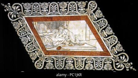 472 Pavimento di siena, esagono, elia resuscita il figlio della vedova (franchi) Stock Photo
