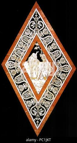 472 Pavimento di siena, esagono, elia unge iehru re d'israele (franchi) Stock Photo