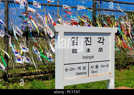 DMZ (Korean Demilitarized Zone), Imjingak, South Korea - Stock Photo