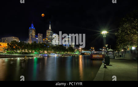 Super Blue Blood Moon as seen in Melbourne - Stock Photo