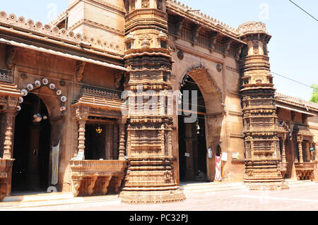 Religion, Rani-Mosque, arhcitecture, Ahmedabad-City, Gujarat, India - Stock Photo