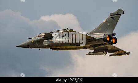 Display by the Dassault Rafale M of the French Navy at the Royal International Air Tattoo, RAF Fairford, UK on the 13th July 2018. - Stock Photo
