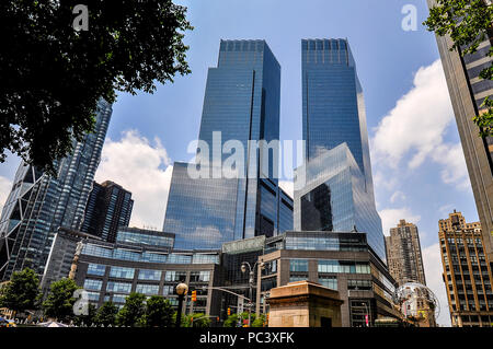 Manhattan, New York - June 10, 2011: Time Warner Center on June 10, 2011 in Manhattan, NY. - Stock Photo