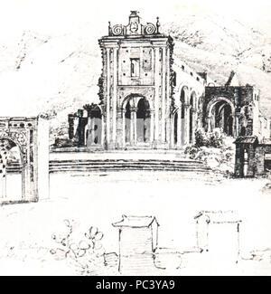531 Ruinas de la iglesia de la Santísima Trinidad en Caracas - Ferdinand Bellermann