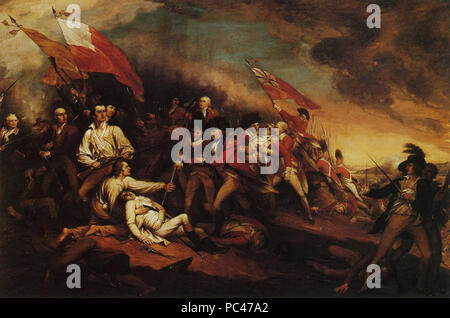 594 The Death of General Warren at the Battle of Bunker's Hill, June 17, 1775 - Stock Photo