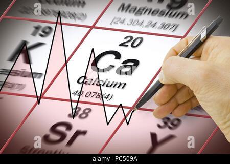Calcium Chemical Element Periodic Table Science Symbol Stock Photo