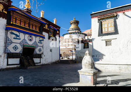 Gyantse Kumbum in Pelkor Chode or Palcho monastery, Gyantse, Tibet - Stock Photo