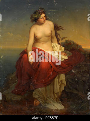 37 Friedrich Horschelt Ariadne auf Naxos 1853 - Stock Photo
