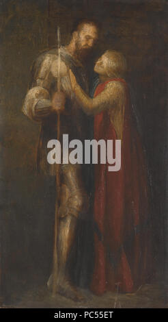 38 George Frederic Watts - Knight and Maiden - Stock Photo