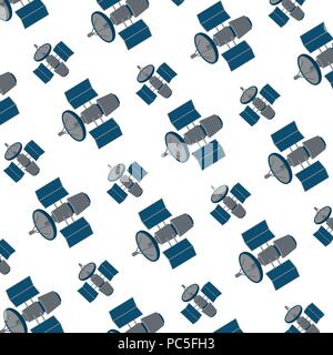 satellite technology communication space background - Stock Photo