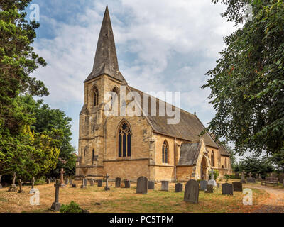 Parish church of St Matthew in the village of Naburn near York Yorkshire England - Stock Photo
