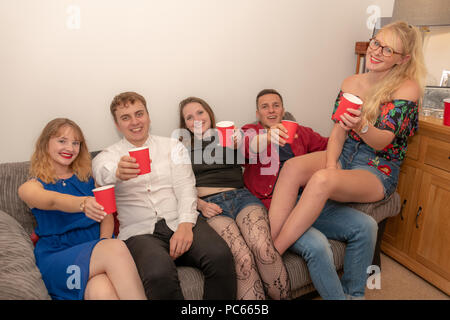 Honiton, UK. 31th July 2018. On the set of drama/sitcom 'Moving In' with Kayleigh-Jade West, Kayleigh-Paige Rees, Will Hawkins & Ashok Lynn-Bertoli. Comedy created by Zandie Thornton. Credit: Thomas Faull/Alamy Live News - Stock Photo