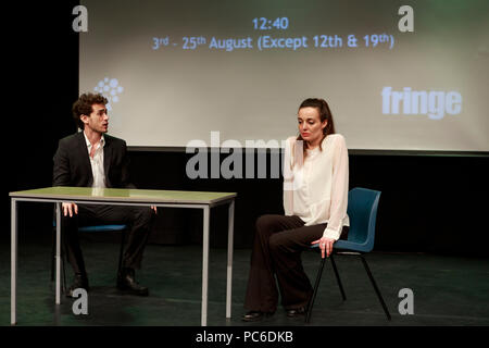 Edinburgh, Scotland. UK. 1 August 2018. Press call Greenside Venues Press Launch as part of Edinburgh Fringe Festival. Edinburgh. Pictured: Matthew 19:14. Pako Mera/Alamy Live News. - Stock Photo