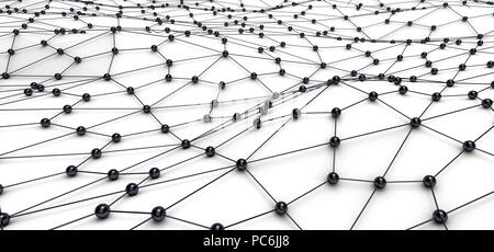 Partner and teamwork business concept with ball structure and mesh or net - Stock Photo