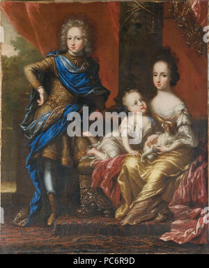 53 Karl XII, 1682-1718, King of Sweden, his Sisters Hedvig Sofia, 1681-1708, Princess of Sweden - Nationalmuseum - 16091 - Stock Photo