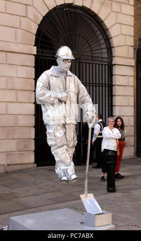 Human Statue Covent Garden London September 2017 - Stock Photo