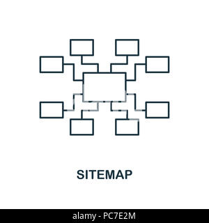 Sitemap creative icon. Simple element illustration. Sitemap concept symbol design from seo collection. Can be used for web, mobile and print. web desi - Stock Photo