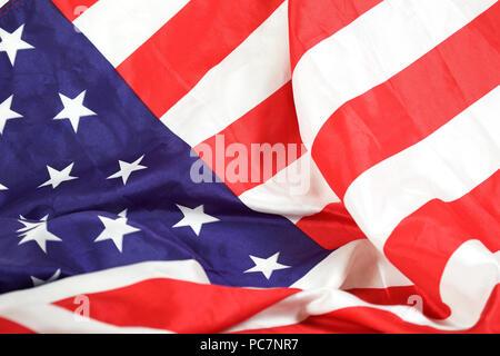 USA Flag close up - Stock Photo